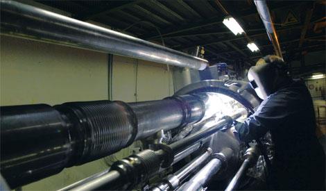 Ремонт магнита в 2007 г. пришлось провести после того как во время проверки на механическую прочность обнаружился дефект конструкции